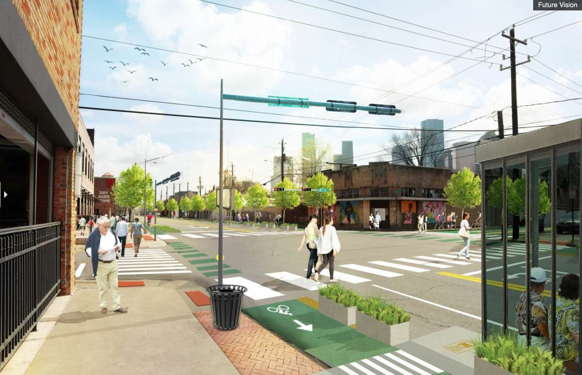 Renderings from a mobility study show what Washington Avenue and the rest of the historic sixth ward could look like.