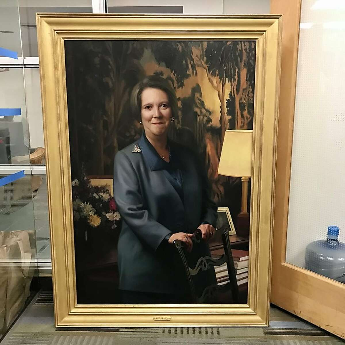 A portrait of Mary Kay Kane Hall hangs in Kane Hall at UC Hastings College of the Law in San Francisco.