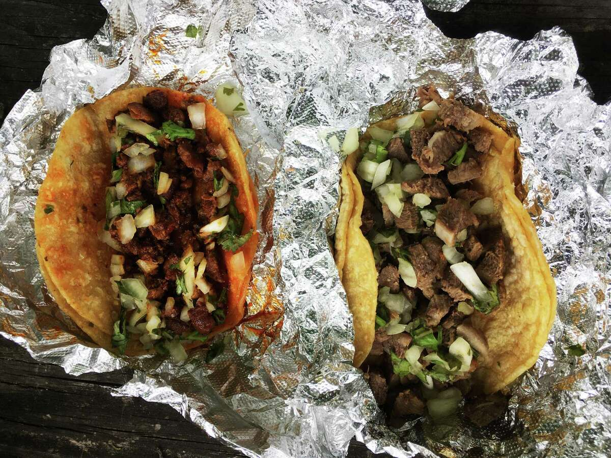 Lengua and al pastor tacos from Benni's Tacos