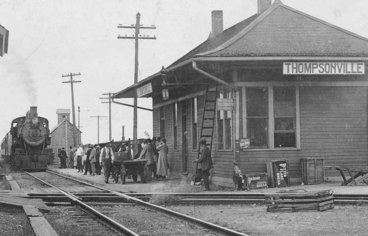 The diamond-shaped crossing of steel rails and the subsequent rail traffic that it facilitated was instrumental in the growth and economic development of Thompsonville, Benzie County and northern lower Michigan. (Courtesy Photo)