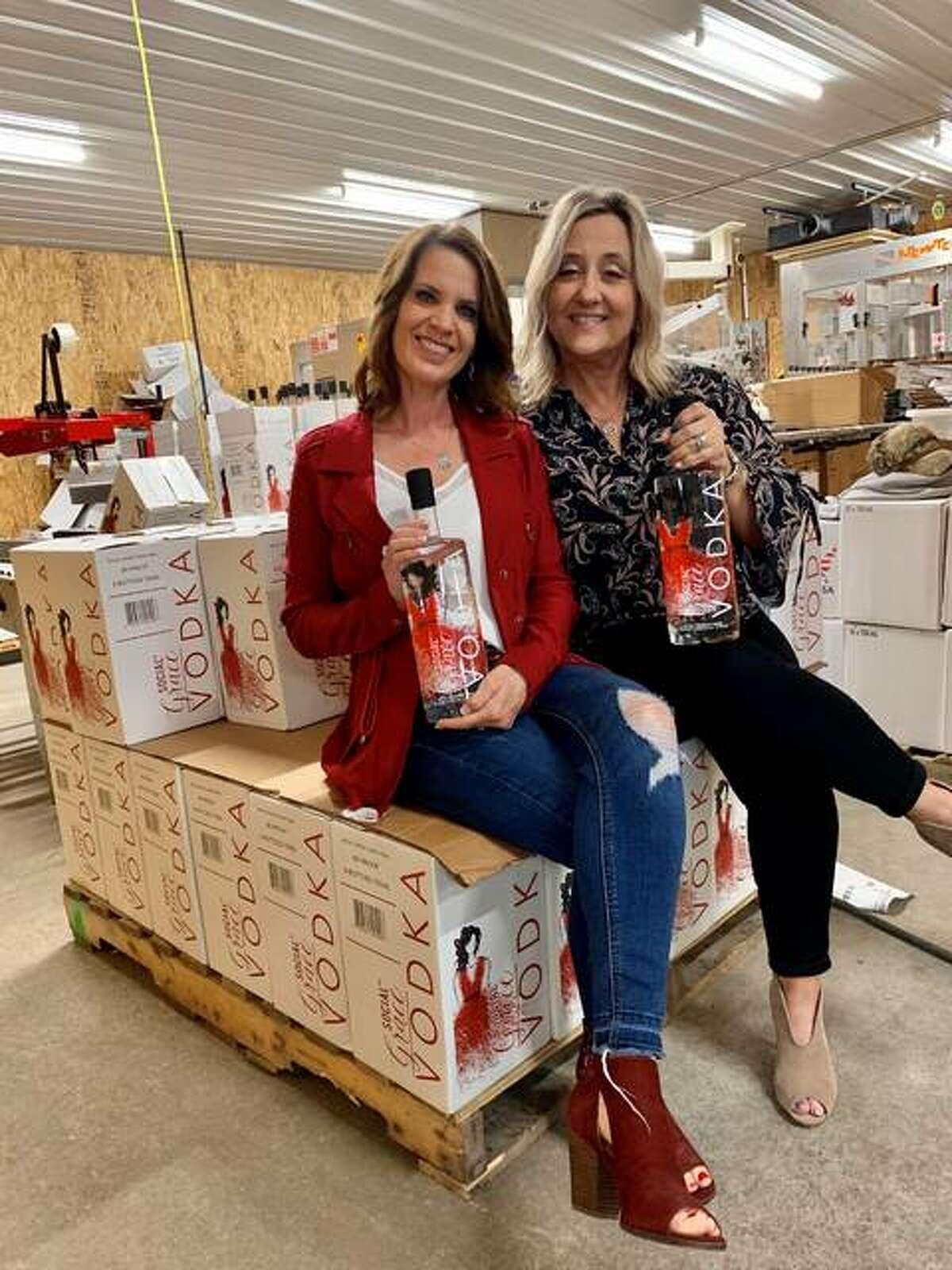 Social Grace Vodka co-owners Christa Guilbeault, left, and Denise Arendell.
