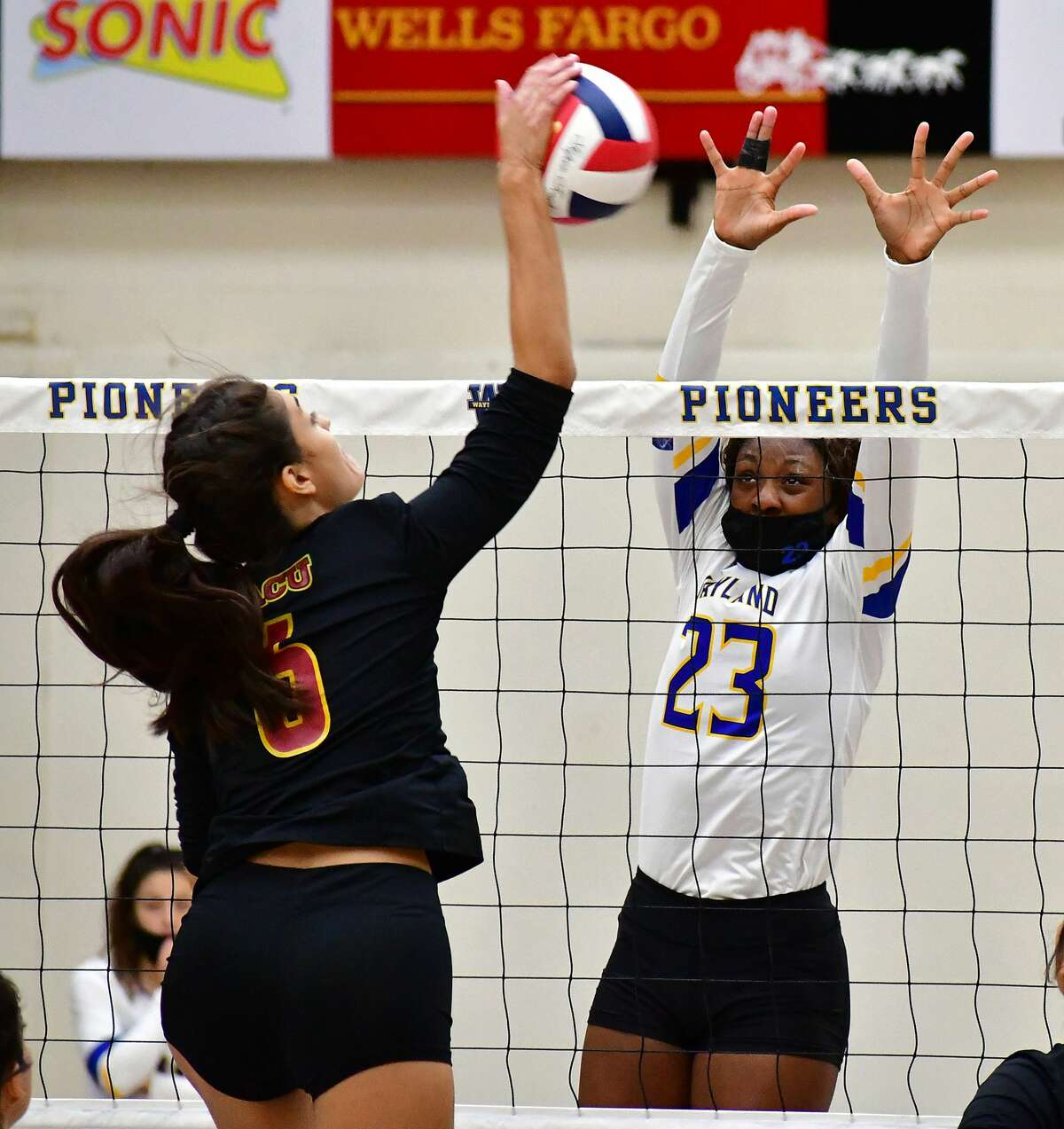 Jayla Schultz (23) and the Wayland Baptist volleyball team will host Lubbock Christian on Sept. 7.