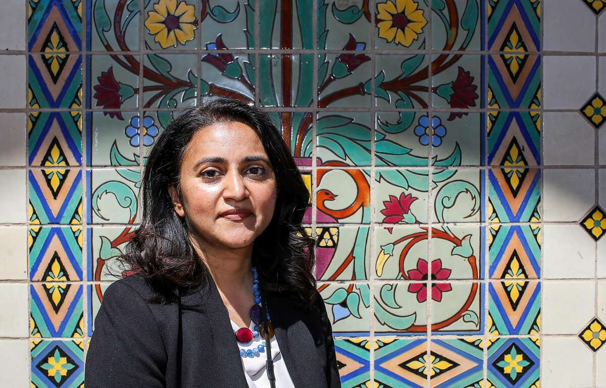 Dr. Susan Philip, MPH Interim Health Officer, City and County of San Francisco, poses for a portrait following a press conference on the steps of Everett Middle School on Thursday, June 3, 2021, in San Francisco, Calif. Bay Area health officials gathered for the event to voice their support of full in-person school this fall.