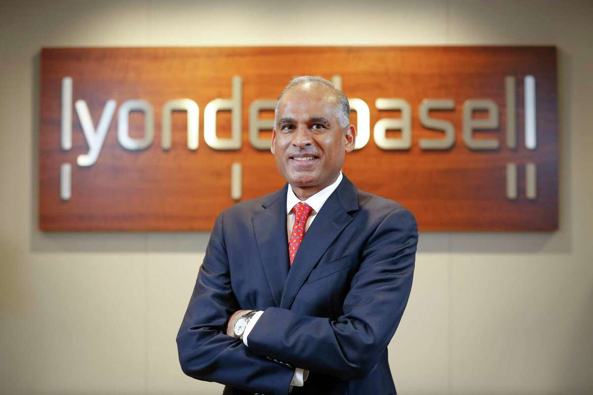 Bob Patel, CEO of LyondellBasell chemical industry company Thursday, June 3, 2021, in Houston.