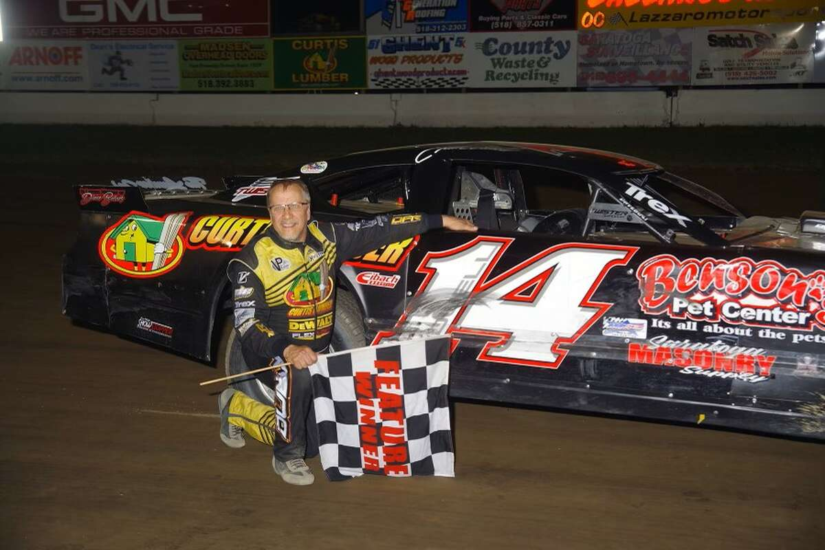 Driver Kim Duell after his recent victory.