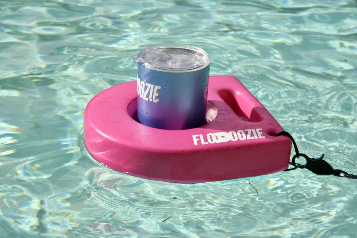 The floating koozie is a hands-free drink solution for a relaxing experience. Kelsi Williams said her husband Travis came up with the idea about five years ago because he wanted a koozie to fit the 30-ounce tumblers he preferred for beverages.
