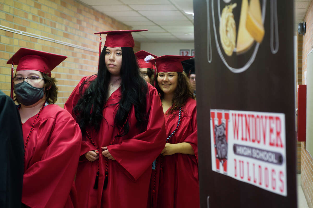The Windover High School Class of 2021 celebrates with a commencement ceremony Wednesday, June 9, 2021 at the school in Midland. (Katy Kildee/kkildee@mdn.net)