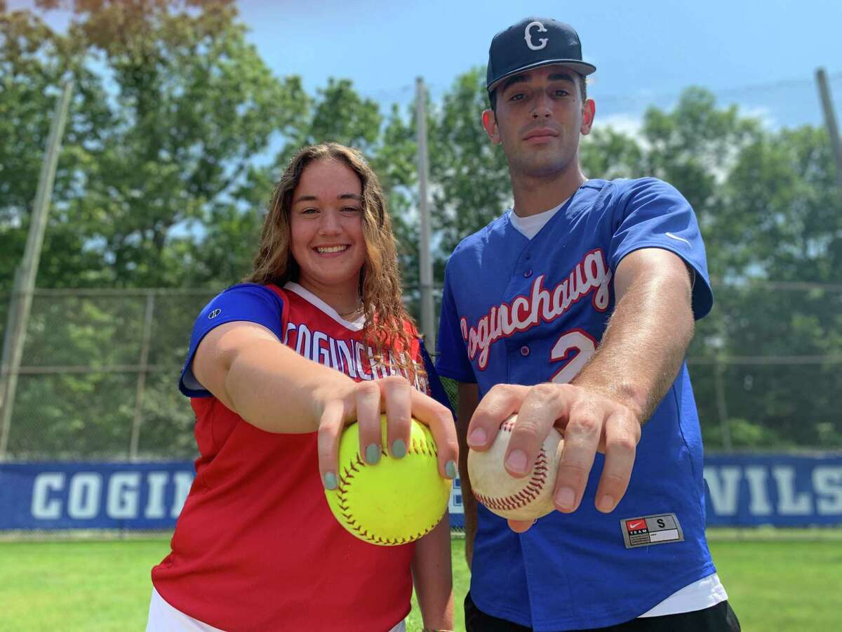 Pitchers Kelly Boothroyd and Kolby Pascarelli have helped lead the Coginchaug softball and baseball teams to the Class S state championship games.