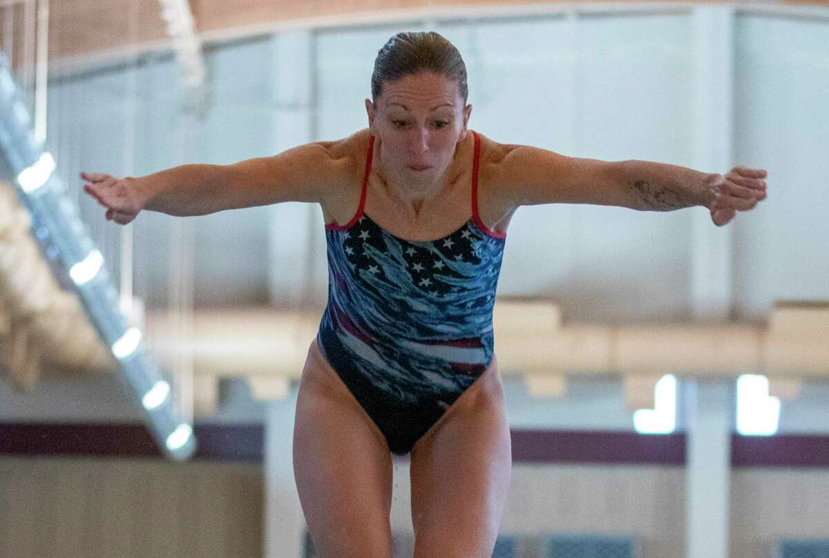Laura Wilkinson, 43, is attempting to qualify for her fourth Olympics.