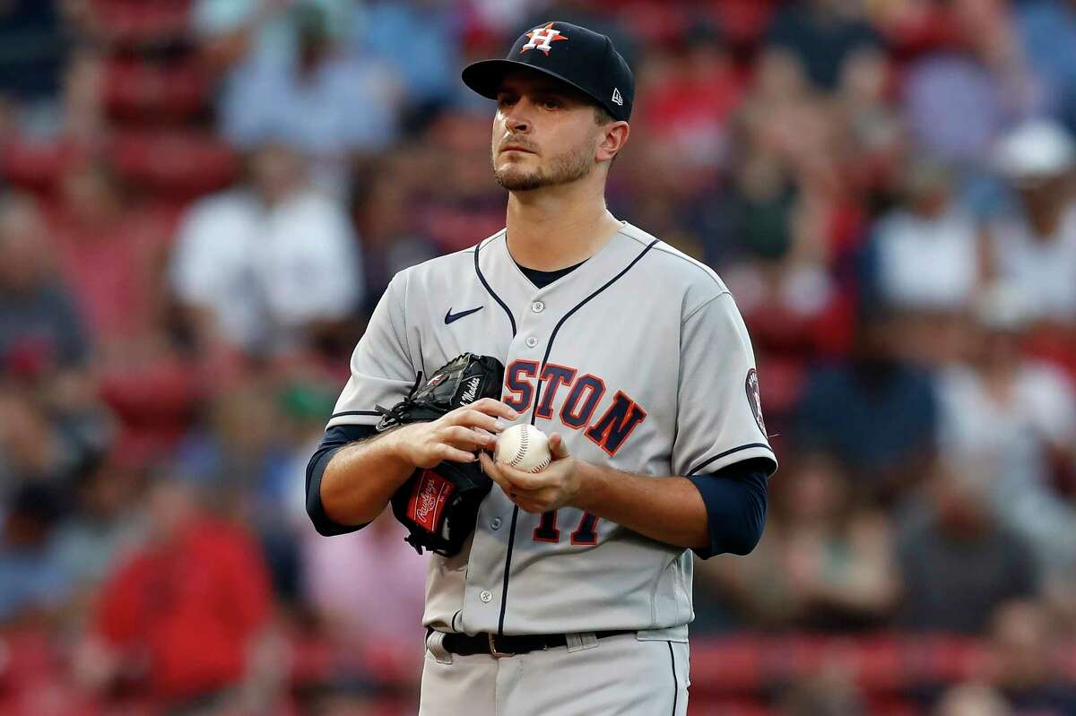 After a rough beginning, Jake Odorizzi finally found a rhythm in Wednesday's win at Boston. But what are the plans for him given the Astros' looming surplus of starting pitching?