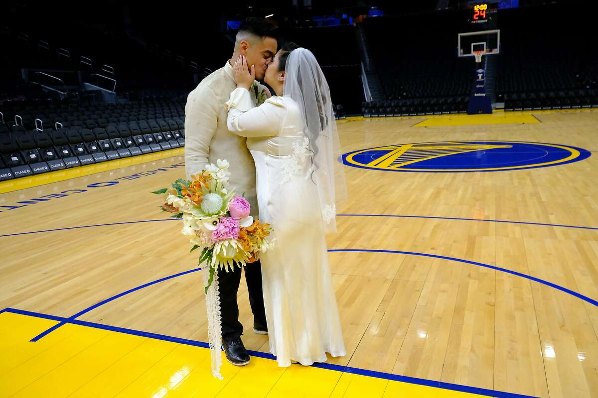 Angelina Marie Yambao and Rowell Fiel met while working together at a bank and their first date was a Warriors game in 2014.