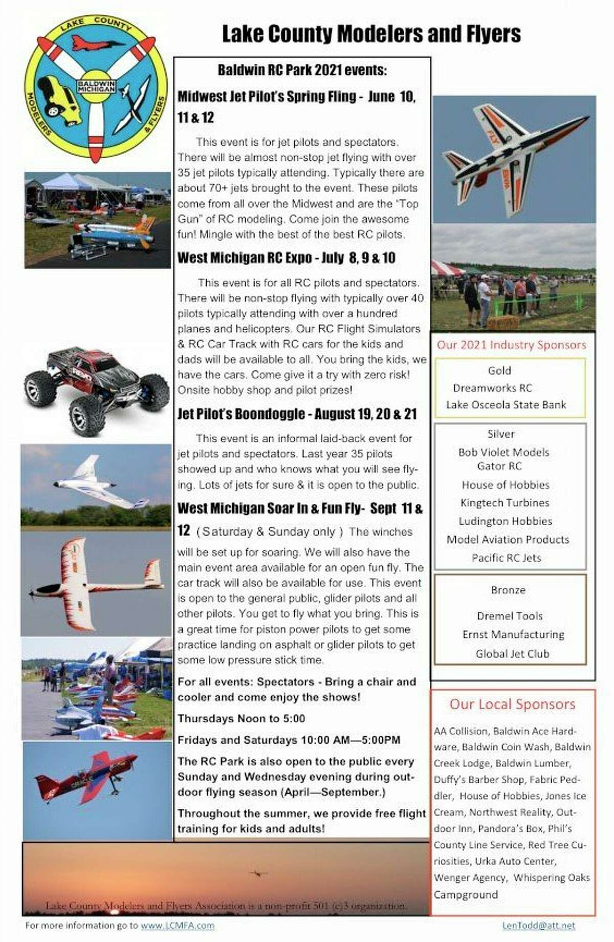 The Lake County Modelers and Flyers has several events planned for the summer. (Submitted photo)