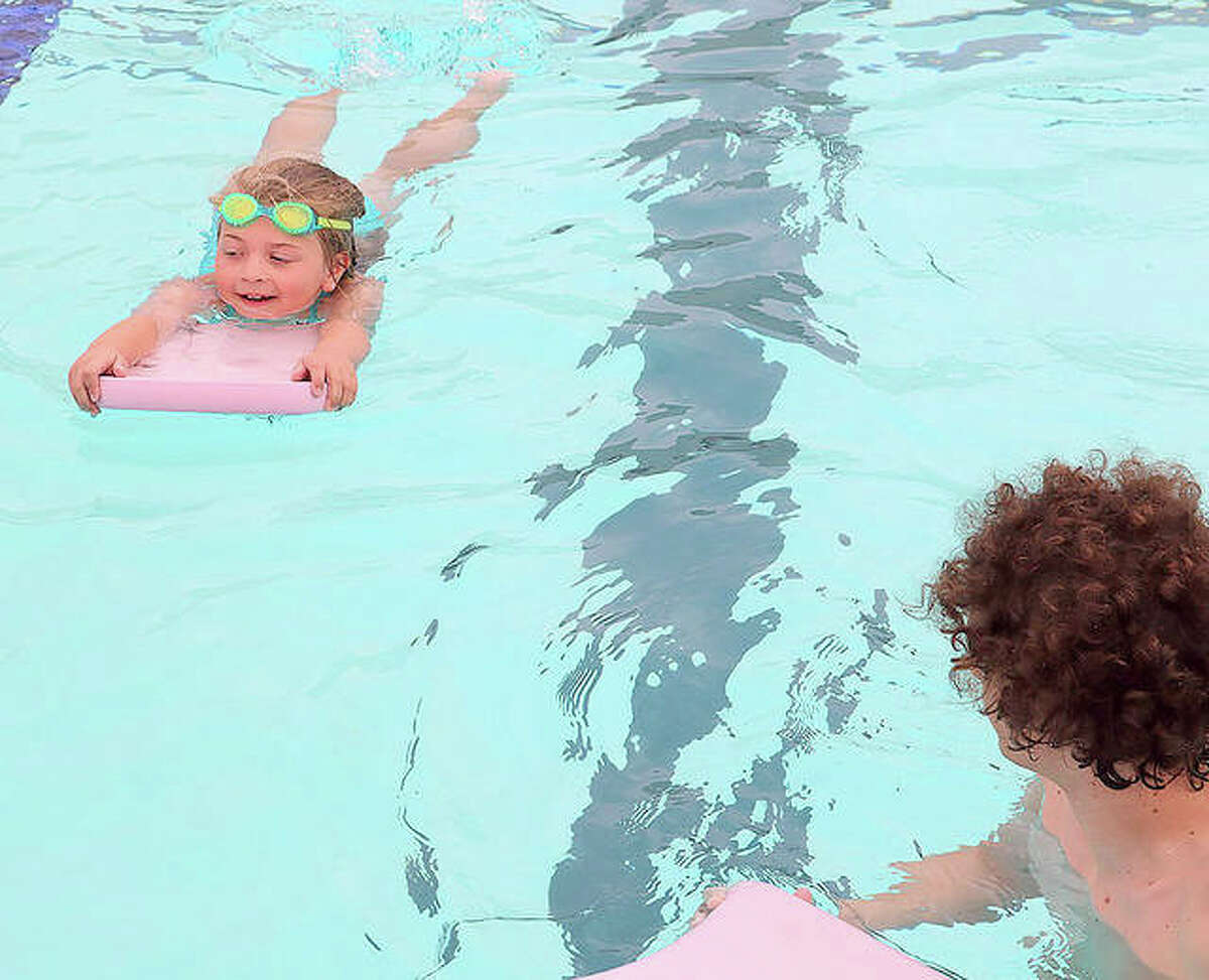 Swimming lessons were among the activities at an Edwardsville YMCA summer camp last year.