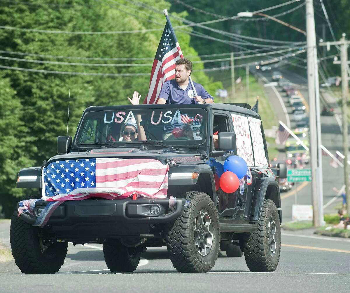 Last year's Fourth of July car parade in New Fairfield, Conn.