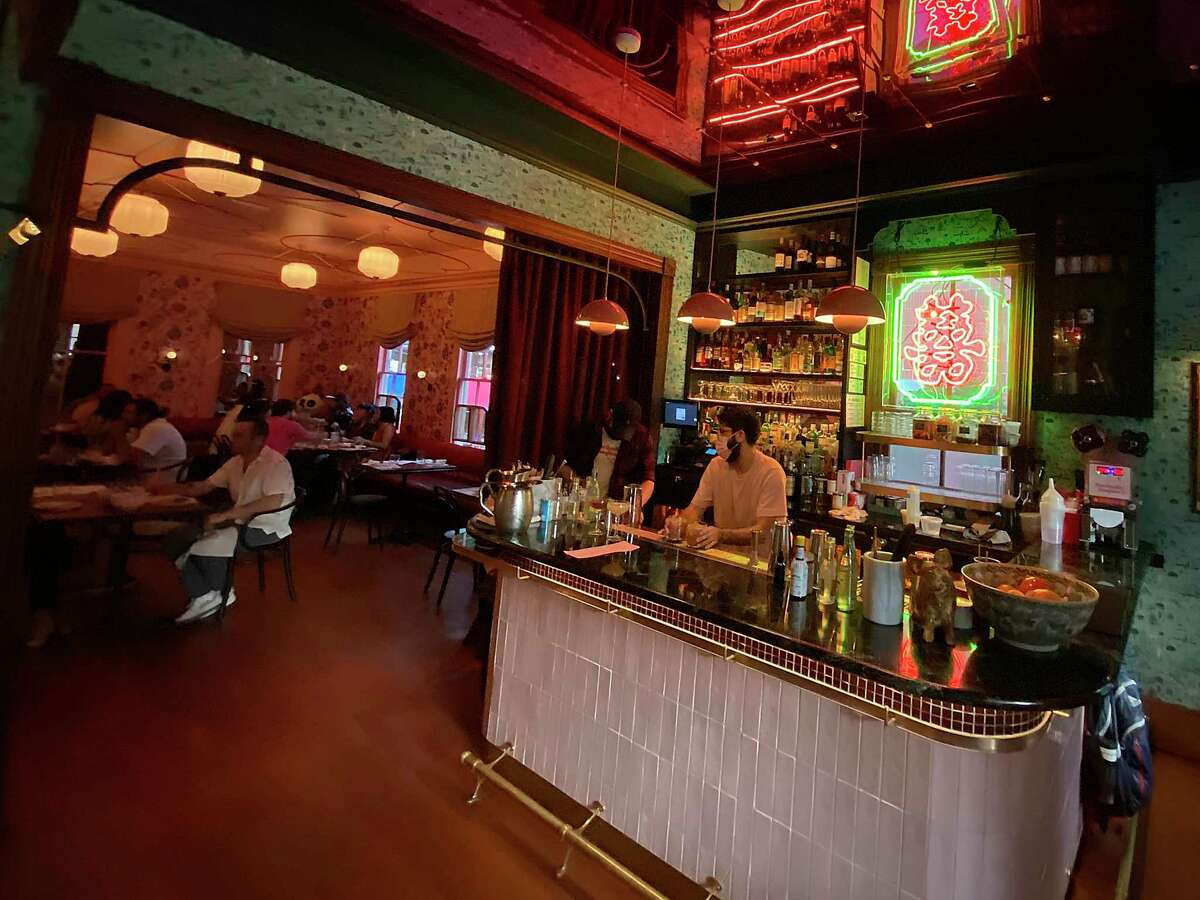 The bar and main dining room reflect the cute and quirky style of Best Quality Daughter at the Pearl.