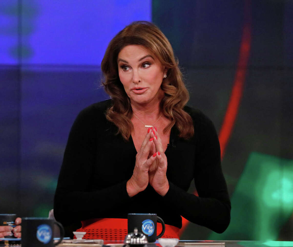 """Caitlyn Jenner in 2017 as a guest co-host on """"The View."""""""