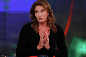 """Caitlyn Jenner in 2017, when she was a guest co-host on """"The View."""""""