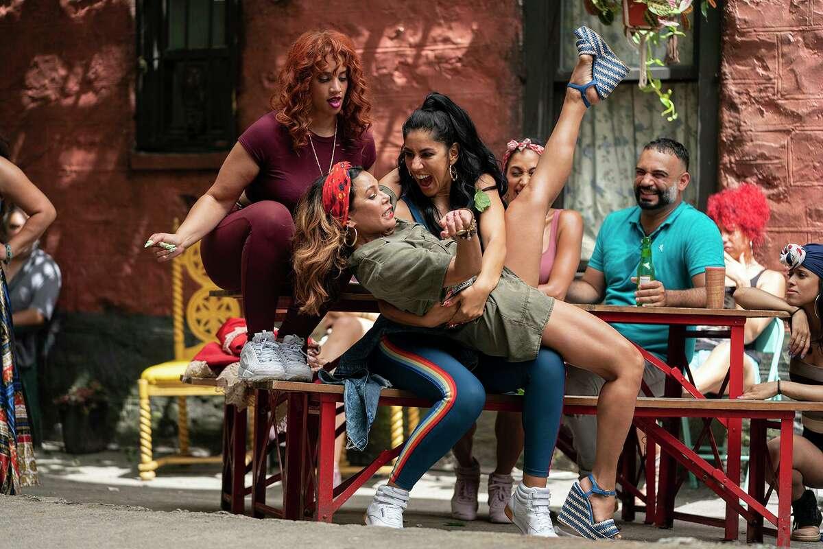 From left, Dascha Polanco as Cuca, Daphne Rubin-Vega as Daniela and Stephanie Beatriz as Carla in Warner Bros. Pictures'