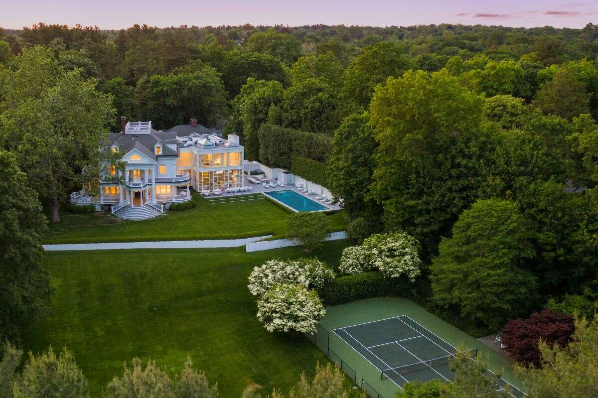 The home on 25 Edgewood Drive in Greenwich, Conn. has 11 bedrooms, 13.5 bathrooms and sits on 3.7 acres of land.