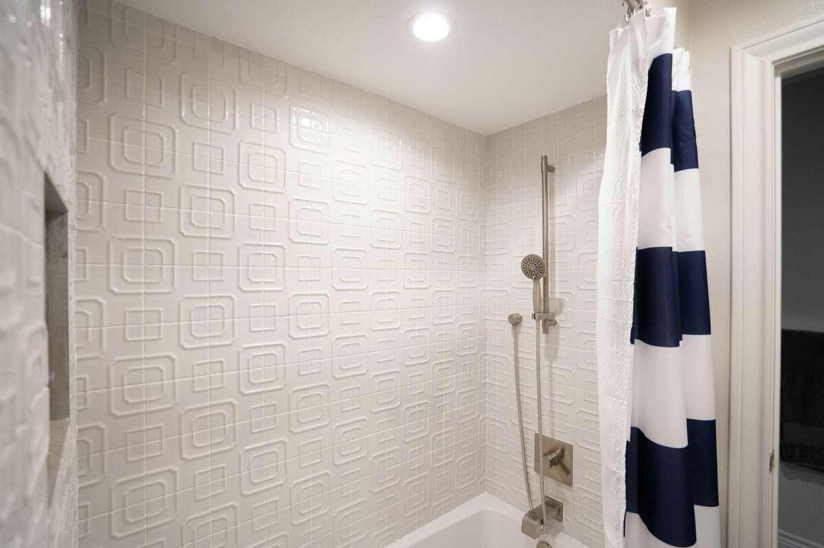 After: The tub/shower got new tile.