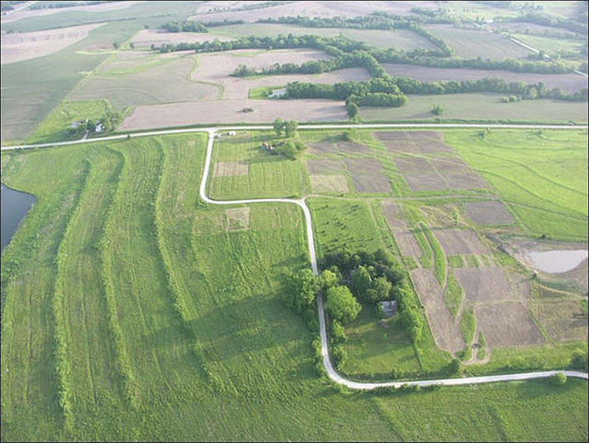 An aerial photo shows the site once known as New Philadelphia in Pike County.