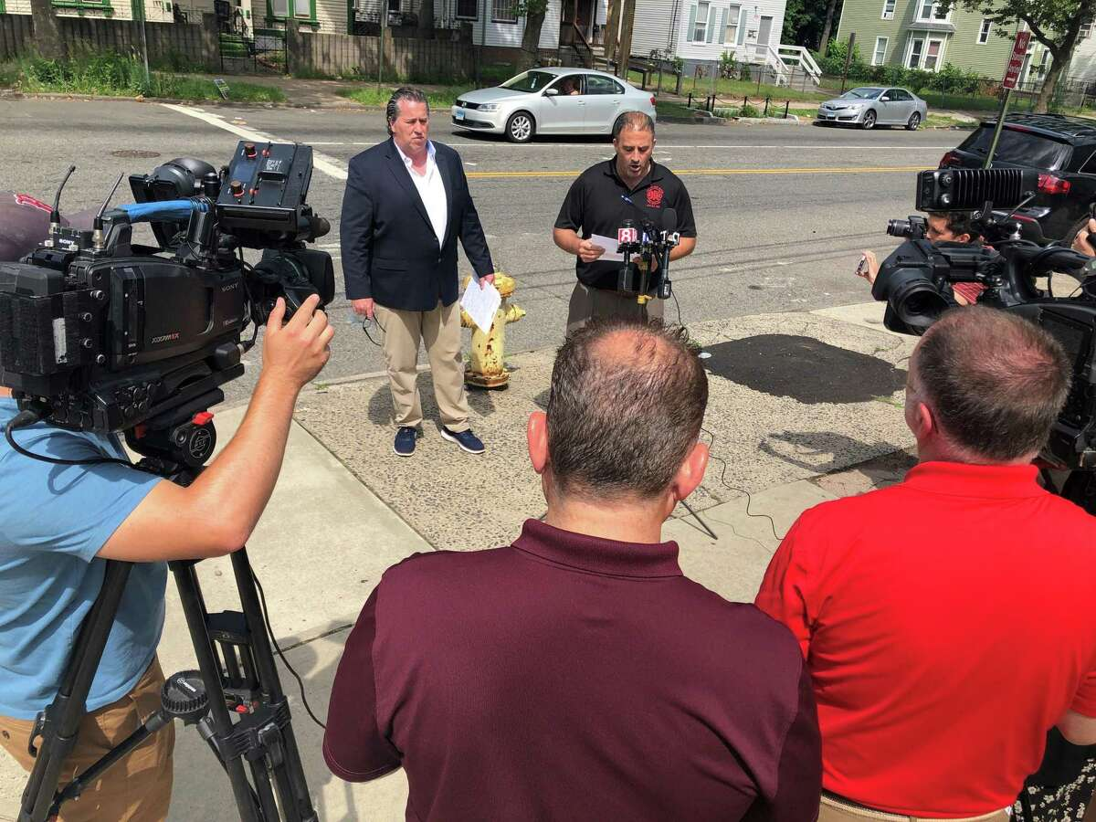 Patrick Cannon and Daniel Del Prete, president and vice president of IAFF Local 825, urged New Haven officials Thursday to fill a series of vacant positions within the department.