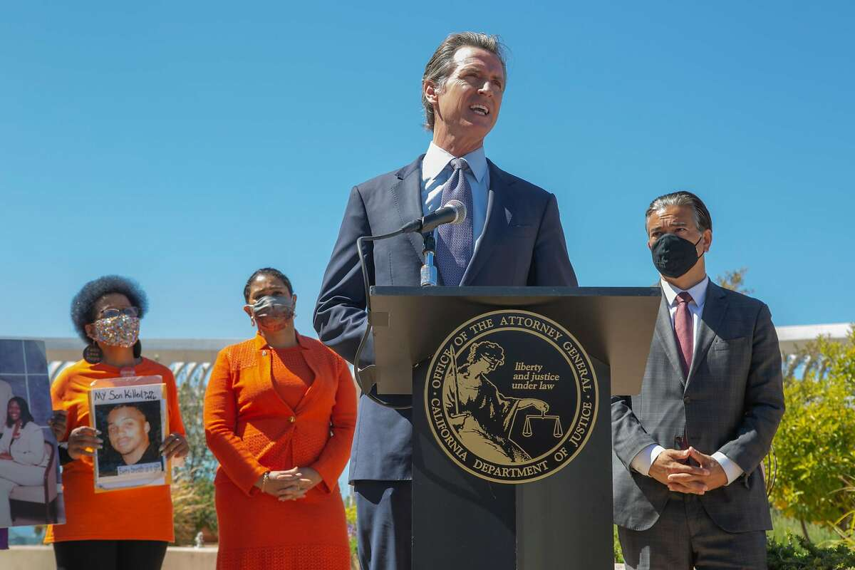 """Gov. Gavin Newsom speaks at S.F. General: """"Judge Benitez is a stone-cold ideologue. He's a wholly owned subsidiary of the gun lobby and the National Rifle Association."""""""