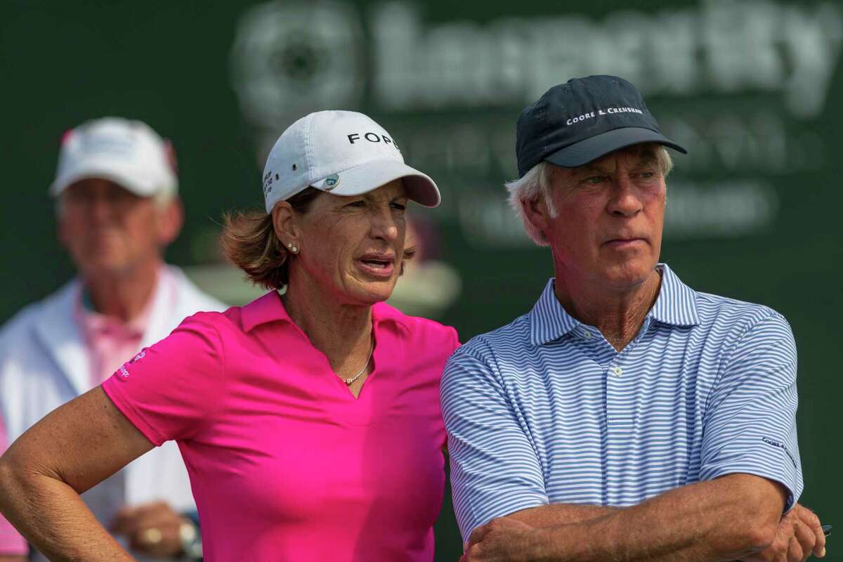 Juli Inkster, left, is one of 11 former U.S. Women's Open champions who will be in the field at the U.S. Senior Women's Open in July at Brooklawn Country Club in Fairfield.