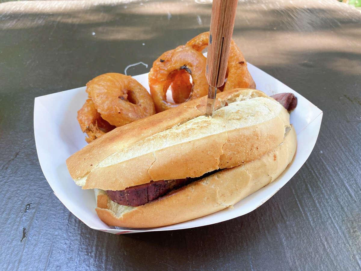 The famous Santa Maria barbecue tri-tip sandwich.