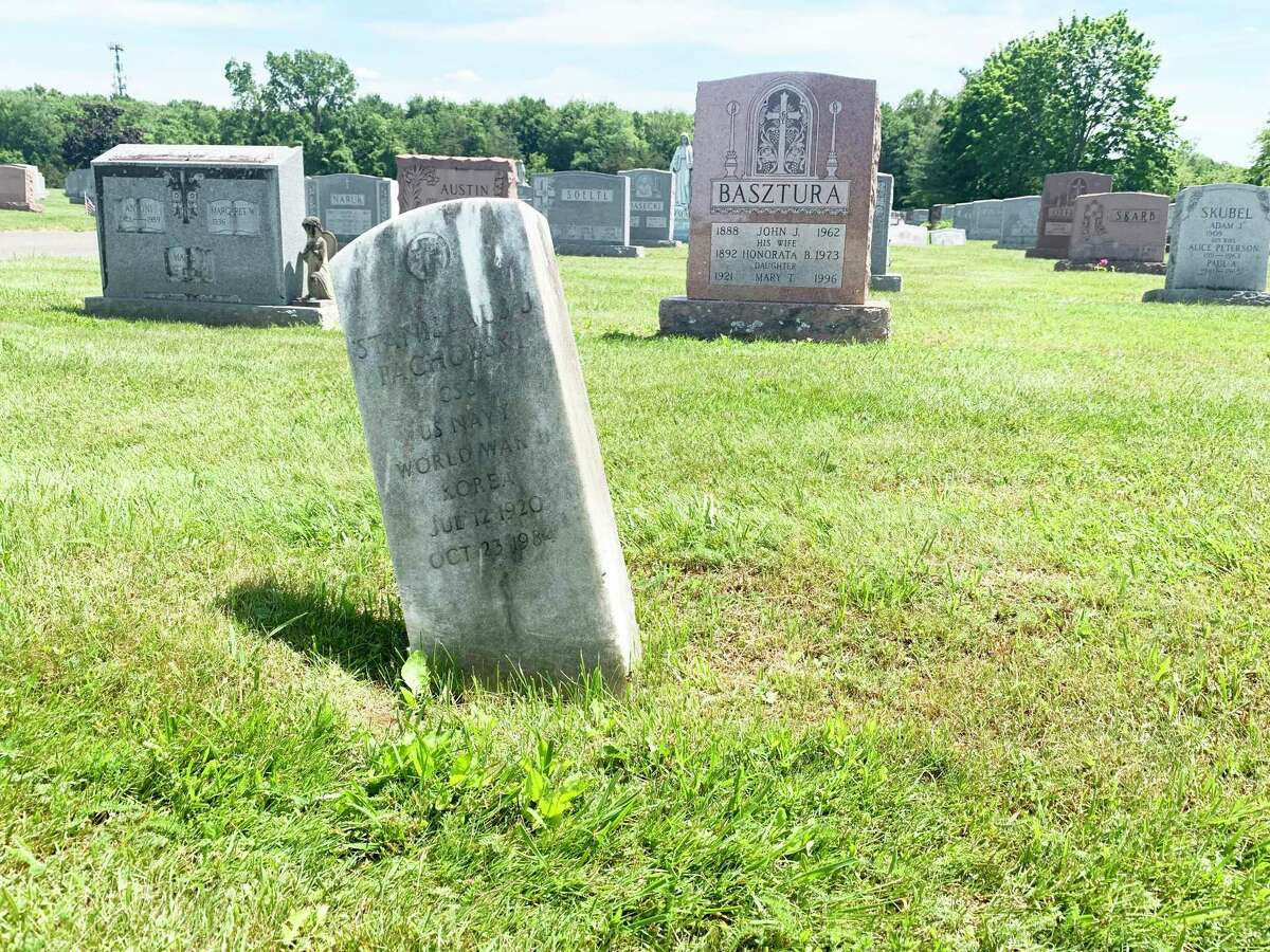 There are at least a half-dozen toppled gravestones and dozens of headstones that are leaning precariously at Calvary Cemetery in Middletown.