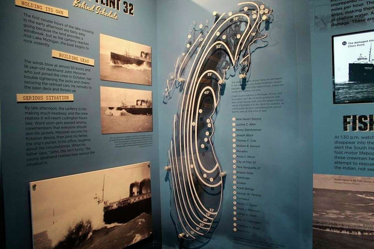 The Armistice Day exhibit at thePort of Ludington Maritime Museum features informationaboutthe Armistice Day Storm of 1940, showcasing the fateful events leading up to and throughout the extraordinary storm. (Courtesy photo)