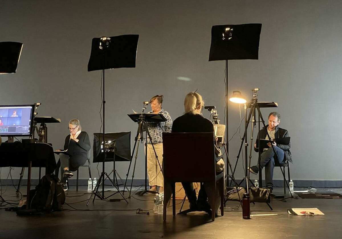 The Westport Country Playhouse is presenting a filmed on the Playhouse stage, and broadcasted virtually, Script in Hand playreading, of the comedy play titled: