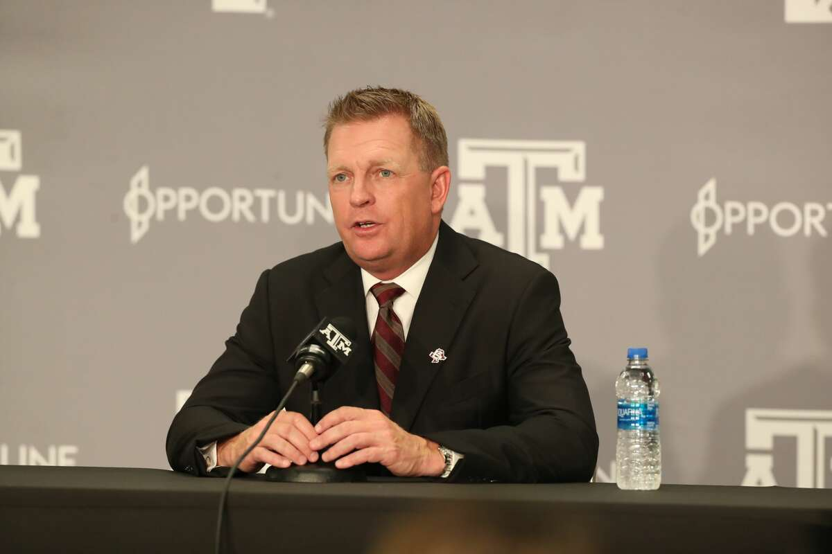 Jim Schlossnagle, formerly of TCU was introduced as the Aggies' new baseball coach in the Hall of Champions at Kyle Field.