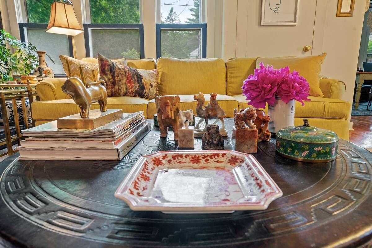 Antique soapstone belonging to interior designer Michele Ahl of 2bDesign.