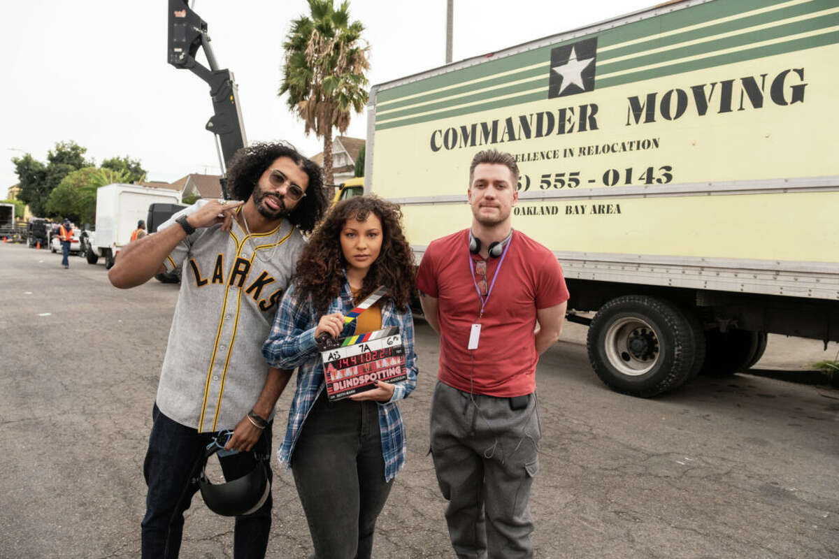 Daveed Diggs, Jasmine Cephas Jones and Rafael Casal in Oakland during the filming of the series.