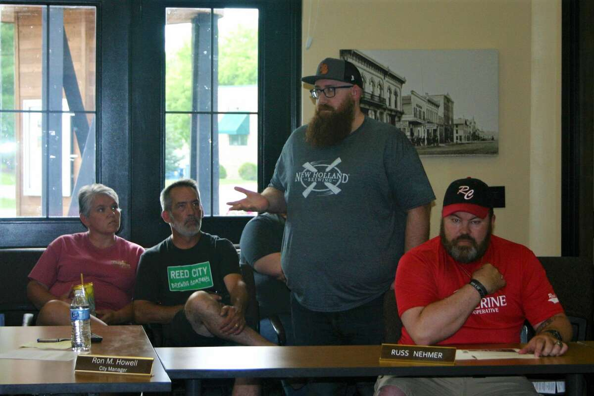 The Reed City city council hosted a special meeting Tuesday to hear the public's thoughts regarding the establishment of a social district in the downtown area.
