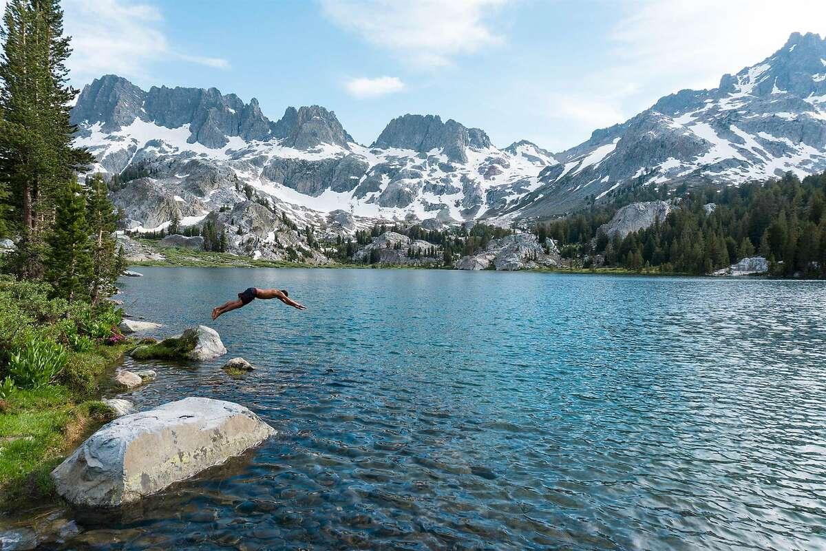 Ediza Lake in the Eastern Sierra boasts many fine trails and lakes.