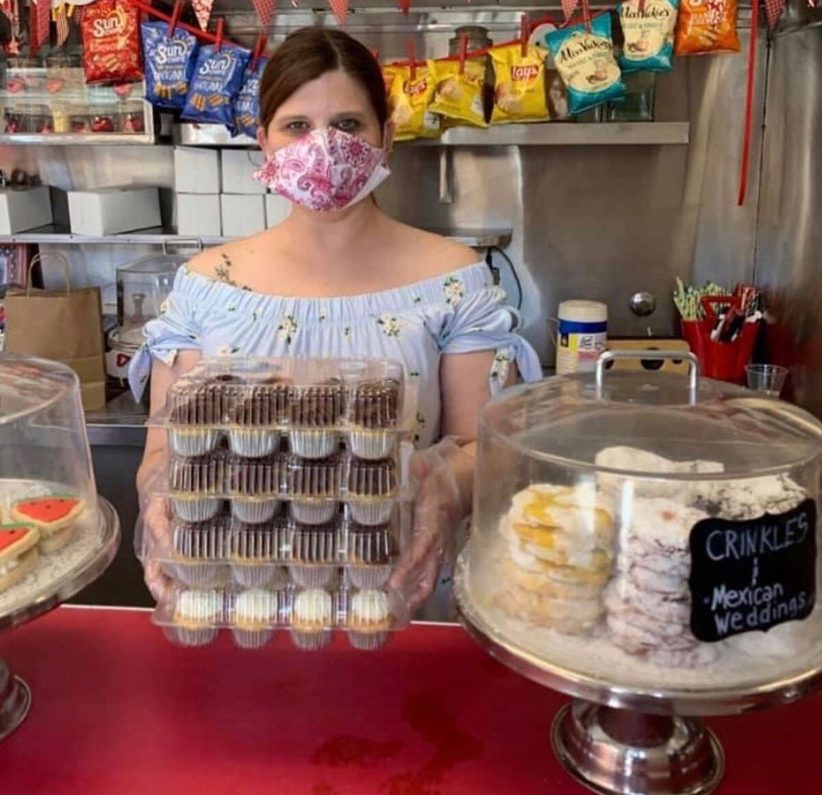 Felicia Tetu, 43, one of three co-owners of Confections bakery, which lost a client because it showcased some of its rainbow-themed Pride cookies.