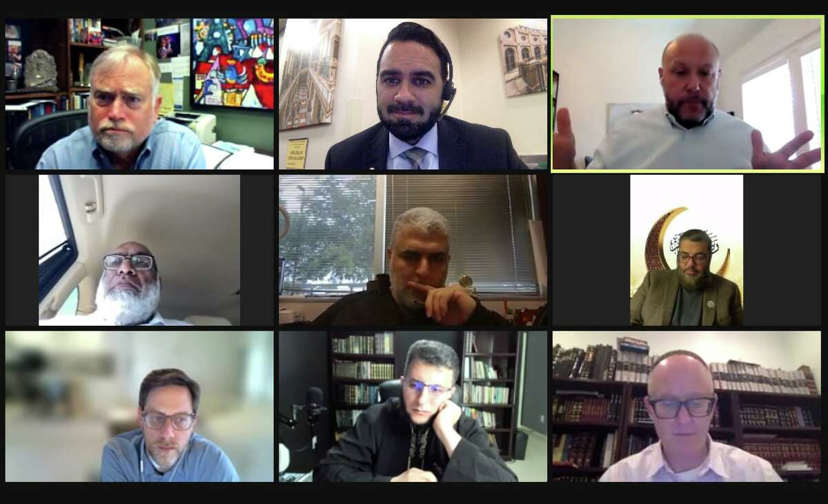 Houston imams and rabbis gather via Zoom on May 21, hours after the Israeli-Palestinian ceasefire was announced.