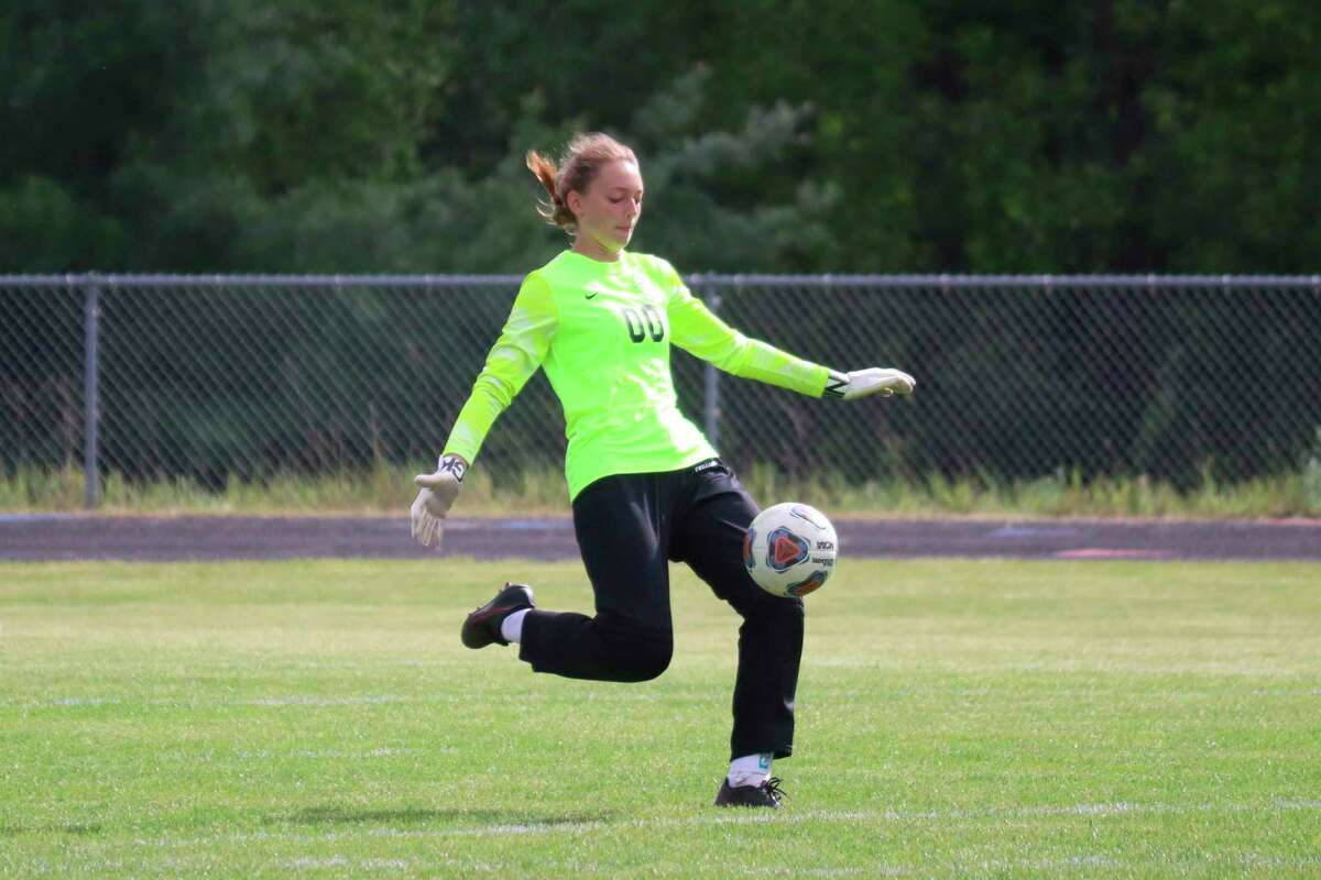 Ava Bechler impressed at goalkeeper as a freshman this year, earning honorable mention all-conference honors. (Record Patriot file photo)