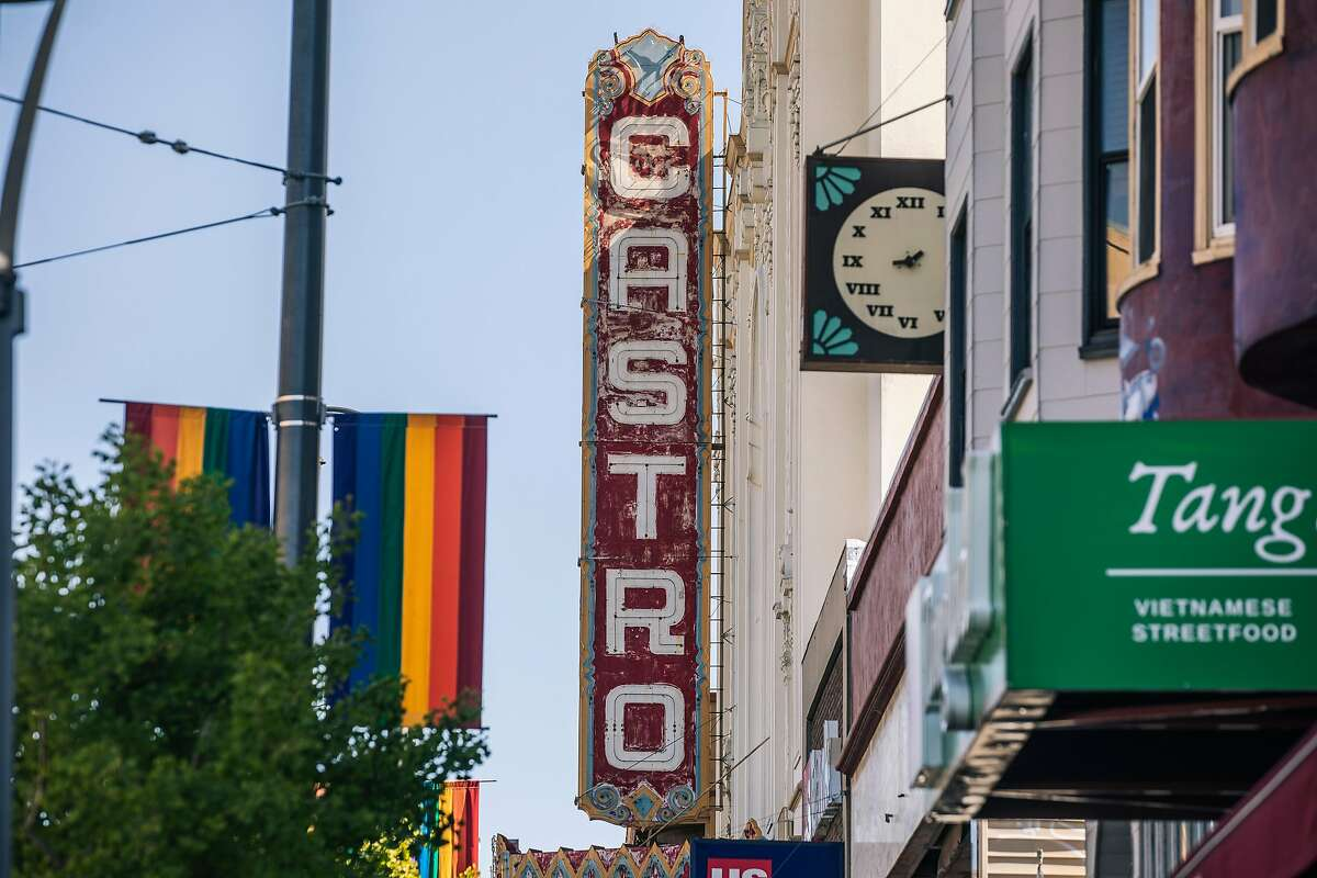 The historic Castro Theatr in the Castro neighborhood of San Francisco on May 27, 2021.