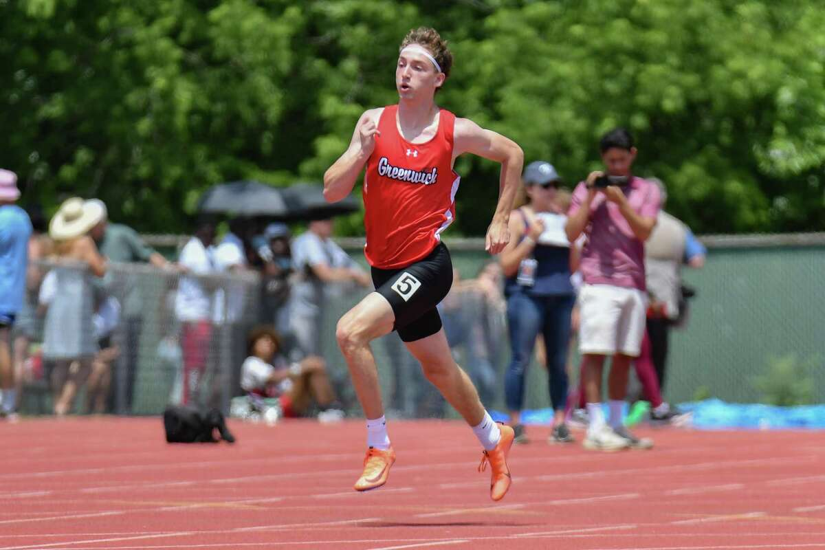 Andrew O'Donnell of Greenwich was the winner in the 400 meter run during the CT State Open Track and Field Championship on June 10, 2021 at Willow Brook Park in New Britain, CT.