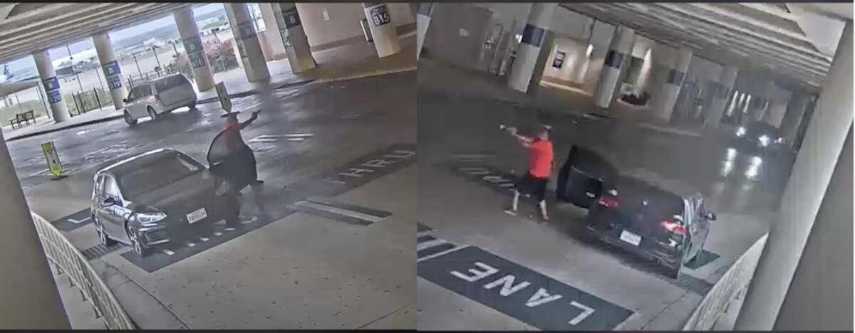 San Antonio police released security camera footage showing the April 15 shooting at San Antonio International Airport.