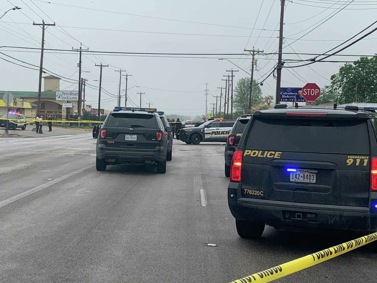 A San Antonio police officer shot and killed two men during a traffic stop off Pinn Road on the West Side, according to Police Chief William McManus.