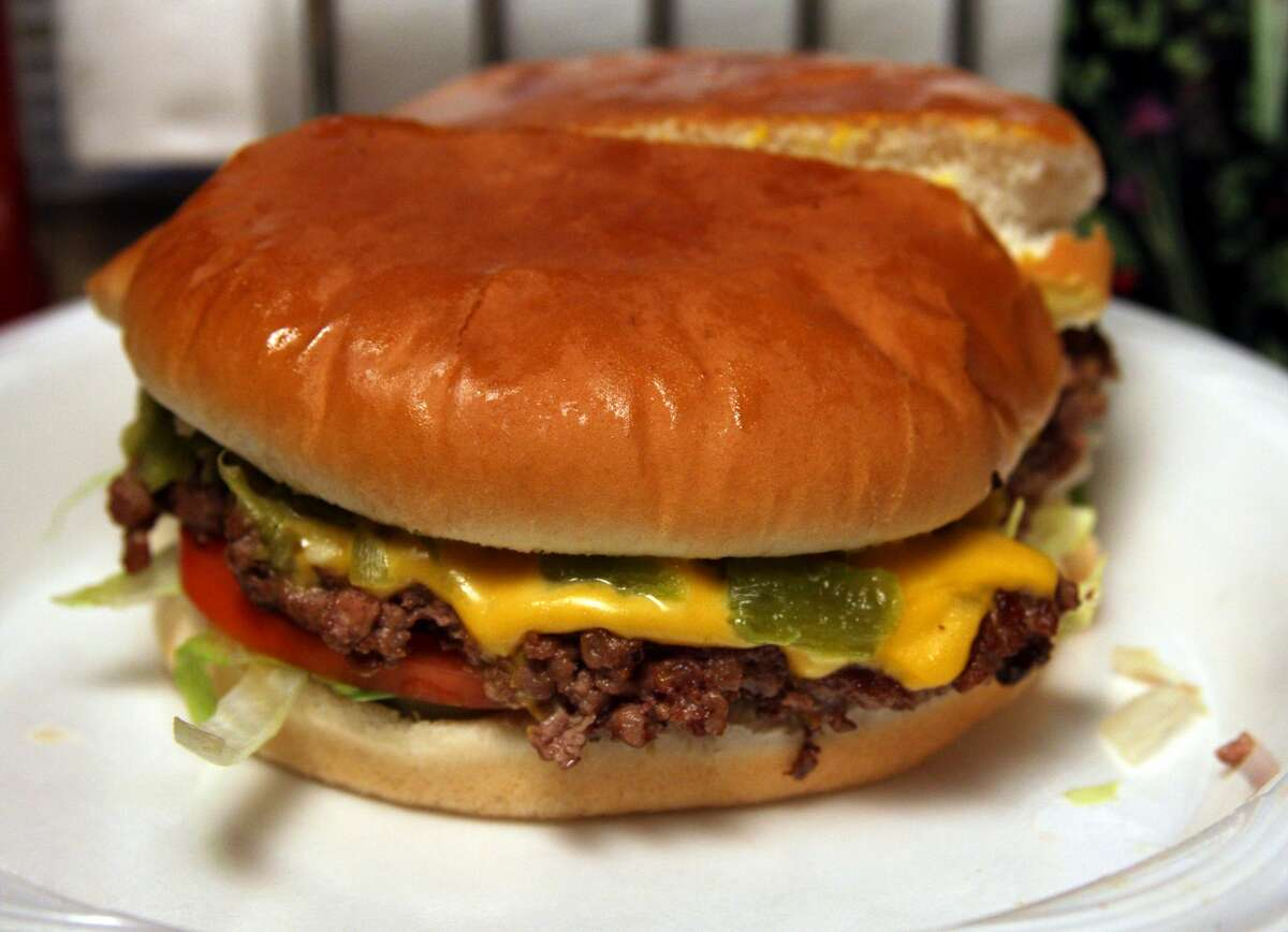 Green chile cheeseburger at the Buckhorn Tavern, San Antonio, New Mexico. (New Mexico TRUE)
