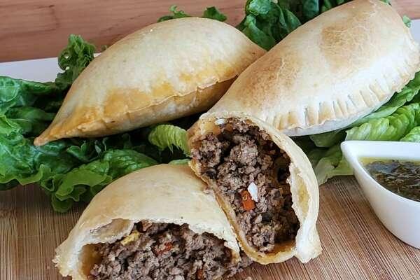 Seatango Foods - beef empanada with chimichurri sauce