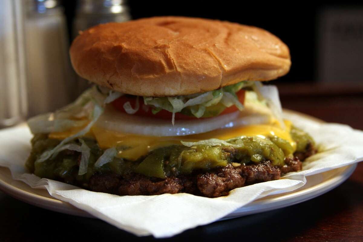 The Owl Cafe, green chile cheeseburger in San Antonio, N.M. (New Mexico TRUE)