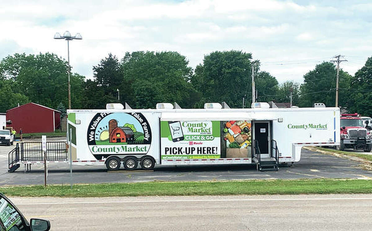 County Market provided a trailer in Carrollton that could hold grocery delivery orders for Greene County residents. Carrollton Mayor Mike Snyder said the service was not being used enough to be profitable for the business.