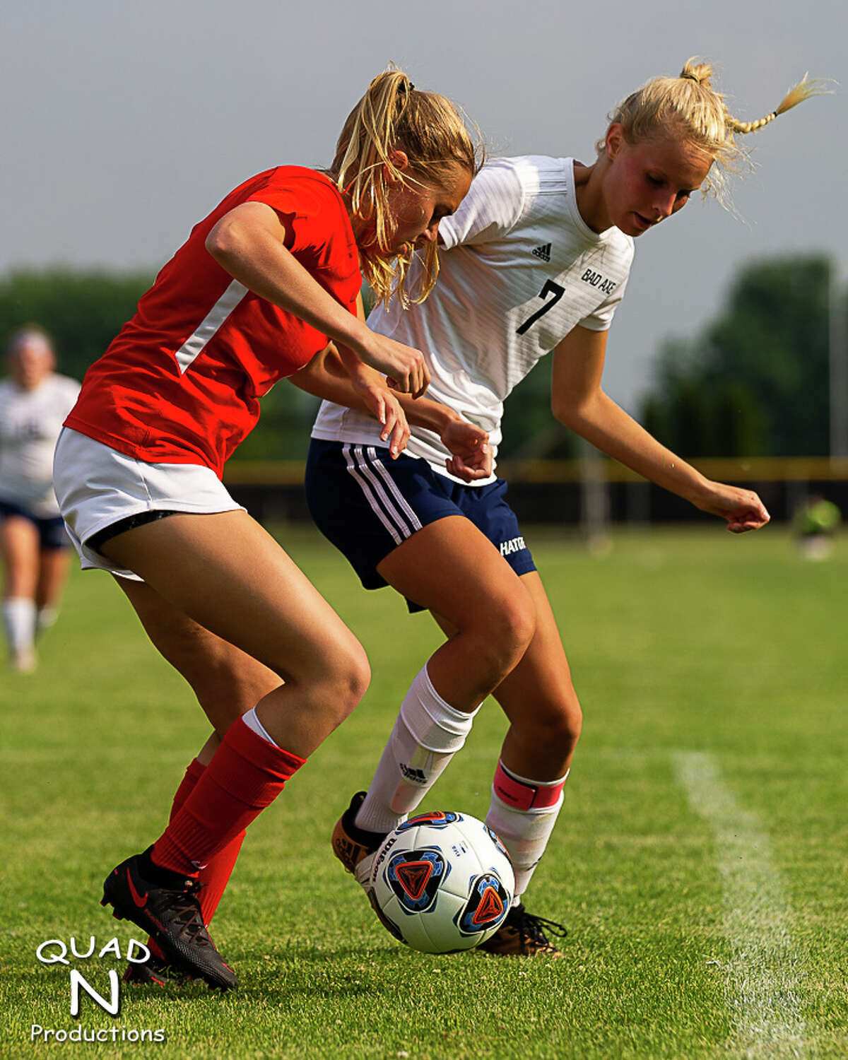 The Bad Axe girls soccer team captured its first-ever regional championship with a 2-1 victory over Laingsburg on Thursday evening at Saginaw Valley Lutheran High School. The Hatchets will face Royal Oak Shrine Catholic in the Division 4 state semifinals on Wednesday, June 16, at Athens High School in Troy.
