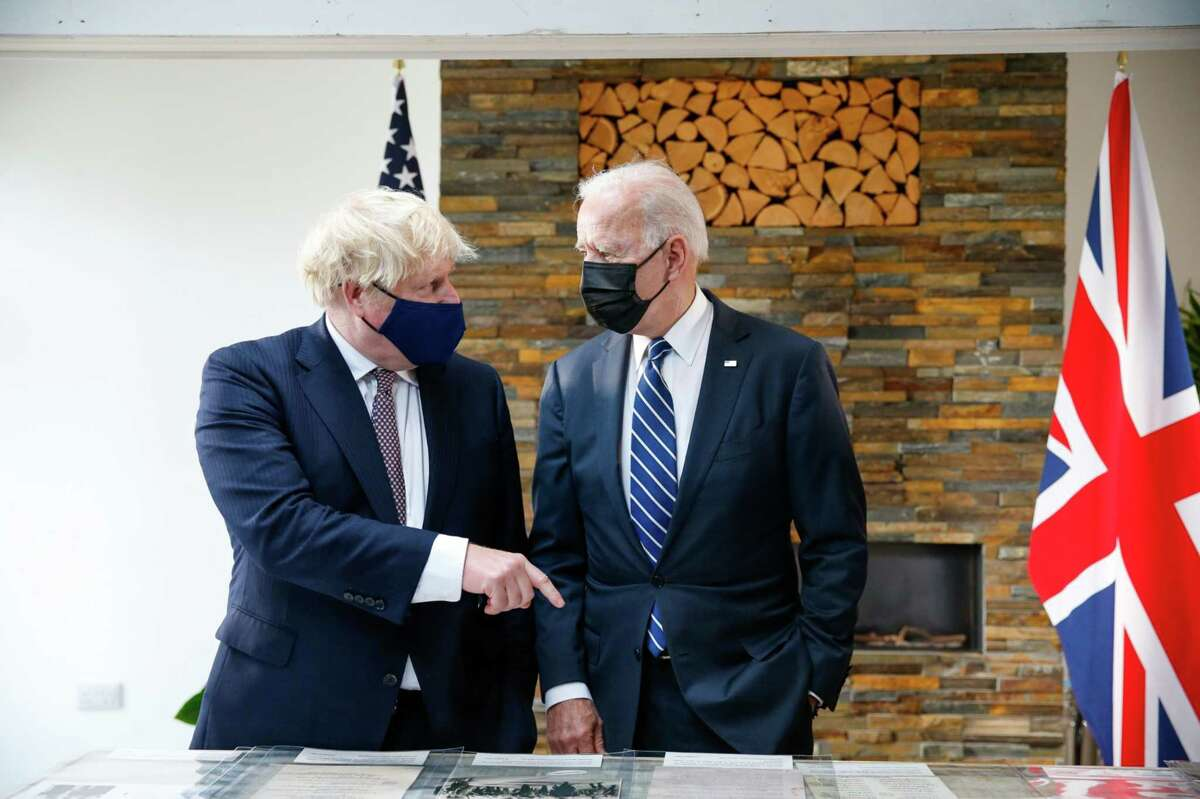 Prime Minister Boris Johnson and President Joe Biden during their bilateral meeting in Carbis Bay, U.K. on June 10.